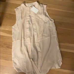 H&M nude/sheer pink/ beige button down